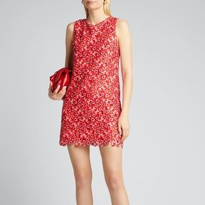 ALICE + OLIVIA CLYDE ALINE FLORAL LACE SHIFT DRESS